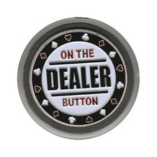NEW Dealer - On The Button Poker Card Guard *SILVER*