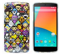 Hülle für Google Nexus 5 Schutzhülle Case für LG Cover Tasche Etui Emoticons Com