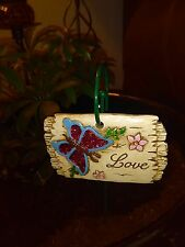 """""""Love"""" Miniature Ceramic Garden Decoration and Hanging Stake"""