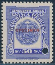 "PERU ""SPECIMEN"" OVERPRINT SUPERB GEM -- RARE -- OG NH BT3906"
