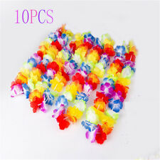 10X Sweet Hawaiian Beach Necklace Leis Lei Flower Decorations Crafts Luau Party