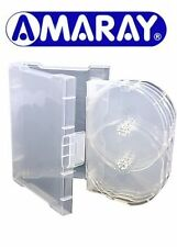 1 x 6 Way Clear Megapack DVD 32mm [6 Discs] New Empty Replacement Amaray Case