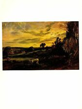 """1978 Vintage CONSTABLE """"SUMMER EVENING"""" COLOR offset Lithograph"""