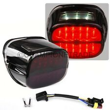 Smoked Red LED Rear TailLight License Plated Lamp For Harley Dyna Road King CT
