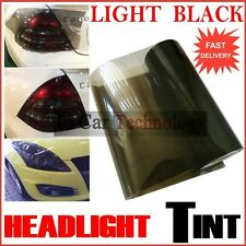 Smoked Glossy Black Headlights Tail Lights Tinted Vinyl Film Car Wrap 1200mm