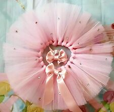 Newborn baby girl pink tutu skirt  photoshoot fancydress cakesmash partydress