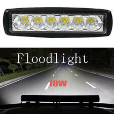 18W LED Work Light Flood Bar 6inch Off-road Driving 4WD LAMP ATV UTE Truck Lamp