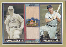 2002 Fleer Fall Classic Duke Snider Frankie Frisch Jersey Relic Rival Factions