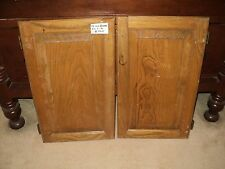 """Solid Oak Pair Kitchen Cabinet Doors  Replacement Parts 22"""" High x 13"""" Wide"""