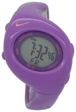 New Nike Kids Triax Junior WR0017 Purple With Pink Swoosh Digital Sports Watch