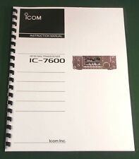 Icom IC-7600 Instruction Manual: Premium Card Stock/Protective Cover, Full Color