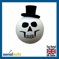 Skull Face Halloween Top Hat Car Aerial Ball Antenna Topper