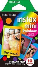 Fujifilm INSTAX Mini 8 Film (Rainbow), 10-Pack 10 Instant Film Sheets