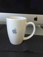 Authentic Apple Inc. White Coffee Cup Mug Grey Apple Logo 3.5 x 5 inches