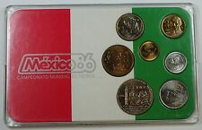 Mixed Date Mexico Mint Set Commemorating The 1986 FIFA World Cup BU UNC Coins