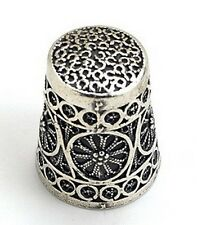 Beautiful 925 Sterling Silver Thimble, Fingerhut Ditale Dedal,Made in Israel NEW