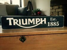 Triumph Sign Vintage Old Look Car Motorcycle Motorbike Wooden Dad Gift