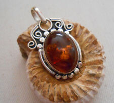 Sterling Silver Amber Pendant    196405