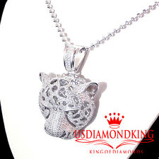 NEW .925 STERLING SILVER EPIC LION HEAD CHARM PENDANT & BEAD CHAIN NECKLACE SET