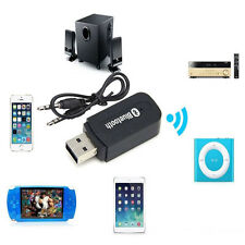 3.5mm Car Wireless Bluetooth Aux Audio Stereo Music Receiver Adapter+Mic For PC