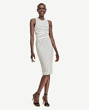 Ann Taylor striped knit sheath dress size 6 MSRP $128