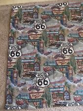 "Route 66 Main Street USA Decorative Throw Blanket~85"" x 50""~Great Shape!!"
