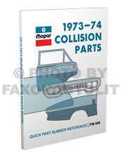 1973 1974 Dodge Body Parts Book Challenger Charger Coronet Dart Demon Swinger