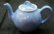 Hall French Flower Cadet Blue 6 Cup Teapot - Double Backstamp -  No Reserve