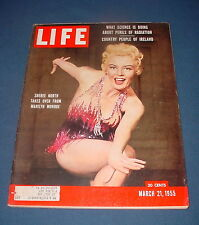 LIFE MAGAZINE MARCH 21 1955 SHEREE NORTH MARILYN MONROE