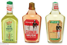 Pinaud Clubman Lilac Vegetal-Musk-Vanilla After Shave Lotion 3-Pack Set 6oz. ,