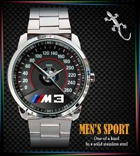 NEW BMW M3 M Power Speedometer Mens Watch Stainless Steel Watch