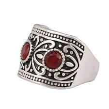 Red Black Colors Rhinestone Silver / Gold Plated  Women's Ring Wonderful Jewelry