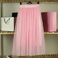WOMEN GIRLS TUTU PETTICOAT LONG SKIRT ROCKABILLY TULLE GOTH BALLET SKIRT