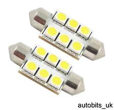 2x 36mm SMD 272 C5W LED NUMBER PLATE INTERIOR DOME LIGHT FESTOON BULB WHITE