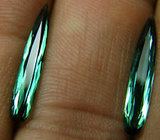 Natural blue-green Tourmaline,2.69ct,faceted drop, 4x21mm,pear,Brazil,554