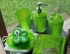 New 8 piece APPLE GREEN  BATHROOM ACCESSORY VANITY SET