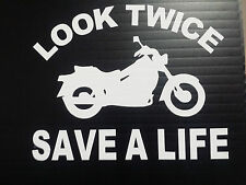 Look Twice Save A Life Vinyl Decals Stickers Graphic Helmets Window Bumper Parts