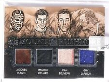 2016 Leaf Enshrined Rushmore Plante Richard Beliveau Lafleur jersey #D11/15 *551