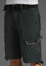 New Mens Rock Revival Slim Cargo Shorts Size 36