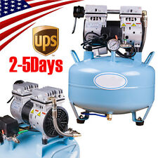 US Portable Dental Medical Air Compressor Noiseless Oilless Air Filter For Chair