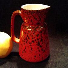 Herrlich rote Krugvase , Fat Lava Laufglasur Wächtersbach, 60er, Form 0142/0