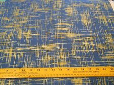 Fabric 1 Yard Shades of Blue Gold Accents Painters Canvas Michael Miller