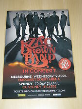 ZAC BROWN BAND  -  2016 AUSTRALIAN TOUR -  LAMINATED TOUR POSTER