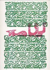 Hap GRIESHABER - HIRT UND SCHAF - OriginalHolzschnitt  1970
