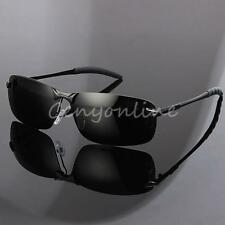 UV 400 Polarized Sunglasses Men Driving Glasses Outdoor Goggles Eyewear Black