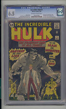 Incredible Hulk #1 CGC 6.5 FN+ Marvel 1st Banner Thunderbolt & Betty Ross OW/W