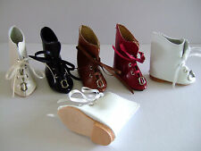 CHAUSSURES en CUIR pour/de POUPEE ANCIENNE-LEATHER DOLL SHOES- Bottines T7 (6cm)