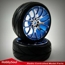2pcs RC 1/10 Alloy Rims Wheels & Tires For RC Drift On-road Touring Car upgrade