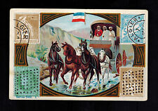 Early Algeria Post Office Trading Card Cover Stamps of the World Widlar COmpany
