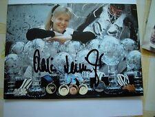 original Autogramm Bild Karte:Katja SEIZINGER Gold Olympiasieger Abfahrt